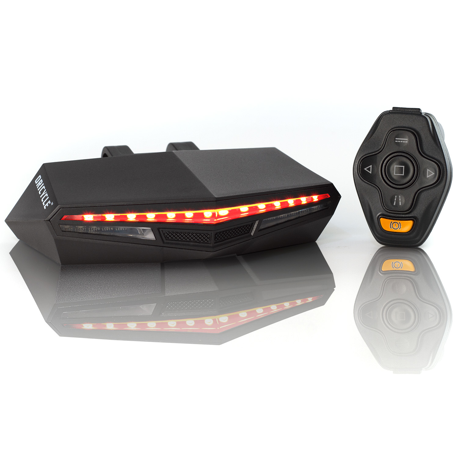 Oricycle Rechargeable Bike Tail Light LED Turning Lights Remote Control